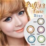 puffy 3 tone blue